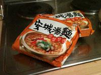 Koreanische Instant Noodles