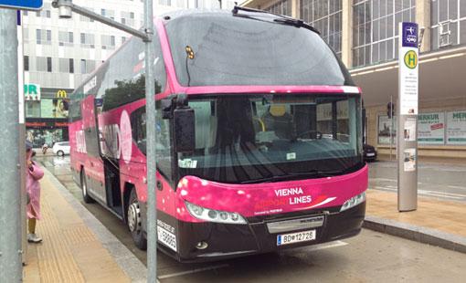 Preiswert mit dem Vienna Airport Bus zum Flughafen fahren